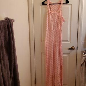 Lauren Conrad Strapless Maxi Dress Pink White L